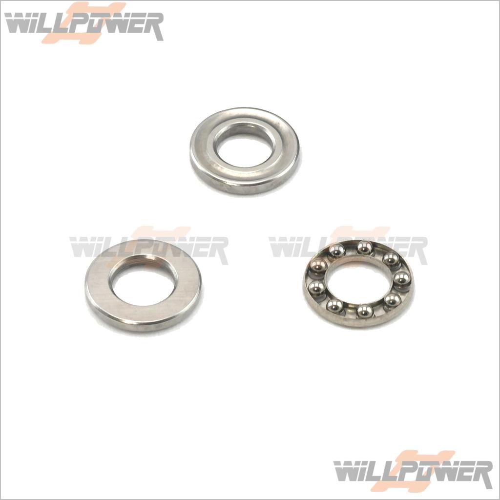 RC-WillPower GPX4 Thrust Bearing 5x10mm #22074 Hobao Hyper OFNA 1//10 Drifter