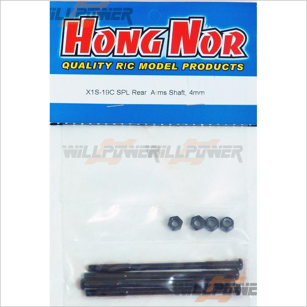 JAMMIN HongNor X2 CRT SPL Rear Arms Shaft 4mm #X1S-19C RC-WillPower