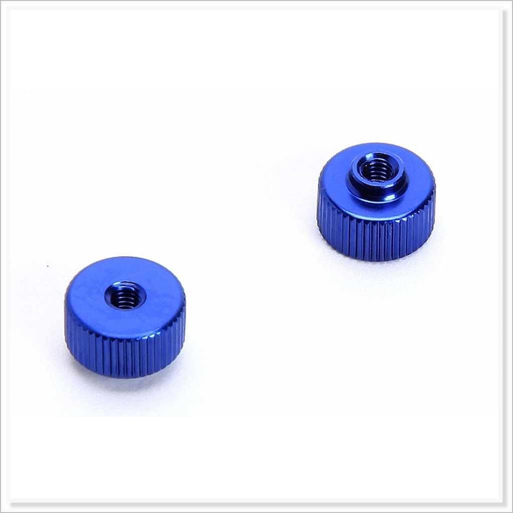 RC-WillPower x2pcs #66480056 S1 Opt Parts Battery retaining nut Blue