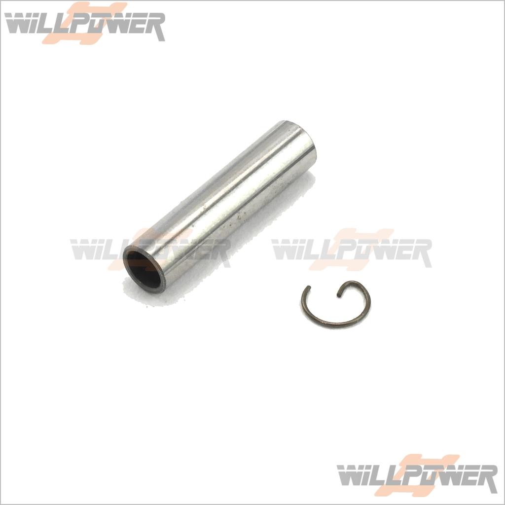 Piston Pin + G Clip #E30007 (RC-WillPower) HOBAO Hyper .30 Engine