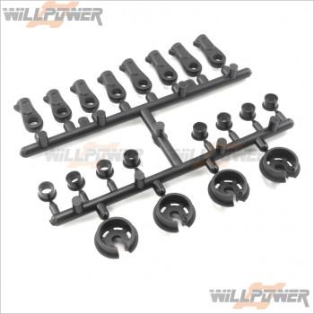 HongNor Plastic Shock Damper Parts #XT-22 [DM-ONE/DM-ONE (1/8)/GTP2/LX-1 EP/LX-1/LX-2 EP/LX-2/NEXX8/NEXX8T/X1CR/X1CRT/X2CR/X2CRT/X3-GT/X3-GTe]