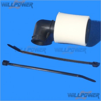 GO OVAL AIR FILTER SET with Connector and Foam #T-27