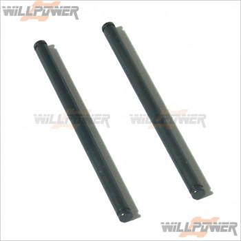 HongNor Rear Lower Arm Shaft (3x48.1) * 2 #X1-25 [DM-ONE/DM-ONE (1/8)/NEXX8/NEXX8T/X1CR/X1CRT/X2CRT]