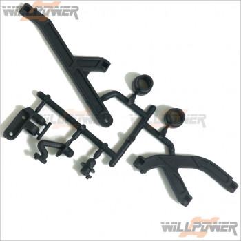 HongNor Body Post/Center Brace * 1set #X3-49 [X3 SABRE/X3-GT/X3-GTe/X3e SABRE]