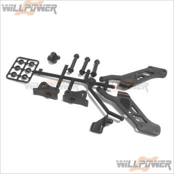 Hobao Buggy Rally RC-WillPower Hyper SS Front Top Plate Holder Plastic #90021