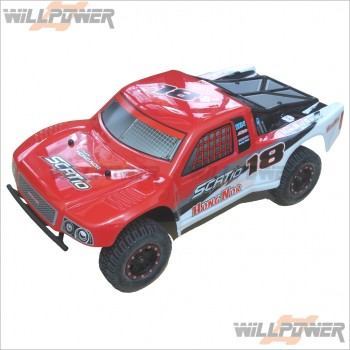 HongNor 1:10 Short Course Racing Truck RTR w/Brushless Motor (Red) [RC Cars]