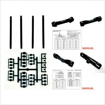 HongNor CNC Machined 7075-T6 Aluminium Suspension Holders Set #X3-GT-03 [X3-GT Opt Parts]