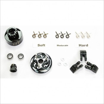 Alpha Clutch Bell Combo Set 15T (Flywheel, Shoes, Springs & Bear #E64-BUB2115 [RC Accessory]