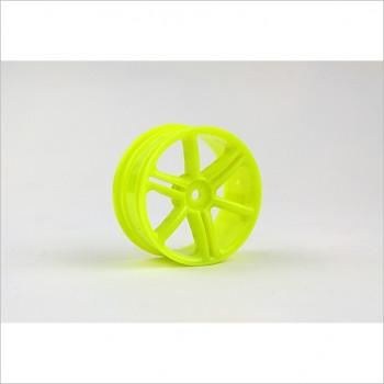 HongNor 1/10 6-Spoke Wheel, Yellow #ES-43Y
