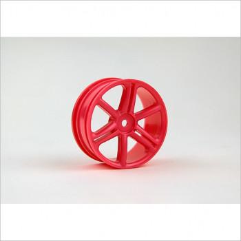 HongNor 1/10 6-Spoke Wheel, Red #ES-43R
