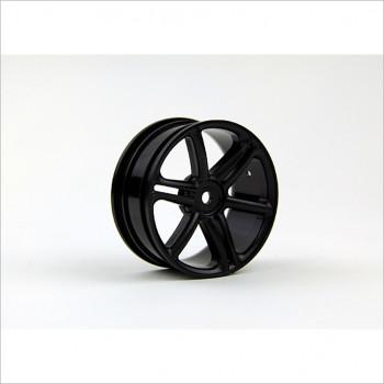 HongNor 1/10 6-Spoke Wheel, Black #ES-43BK