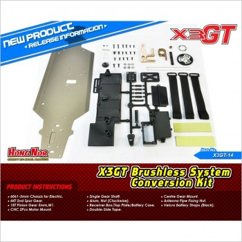 HongNor Brushless System Conversion Kit #X3GT-14 [X3-GTe] [X3-GT]