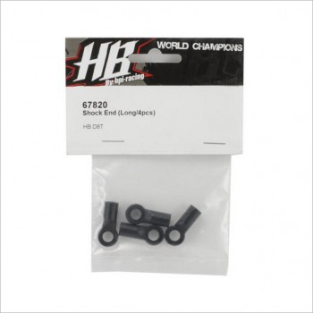 HB Racing HBS67820 HB Racing Long Shock End (4) #67820