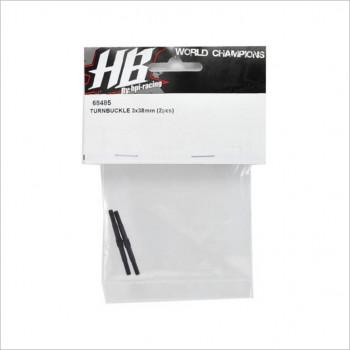 HB Racing HBS68485 HB Racing 3x38mm Turnbuckle Set (2) (TCXX) #68485