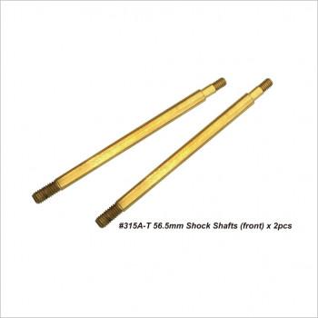 HongNor 56.5mm Front Shock Shafts #315A-T [X3-GT]