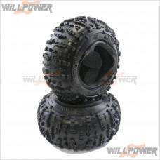 HB Racing Rover 1.9 Tire (Red/Rock Crawler/2Pcs) HB67913 HPI
