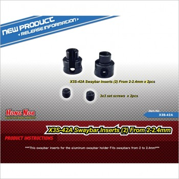 Hongnor Sway Bar Inserts From 2-2.4mm #X3S-42A