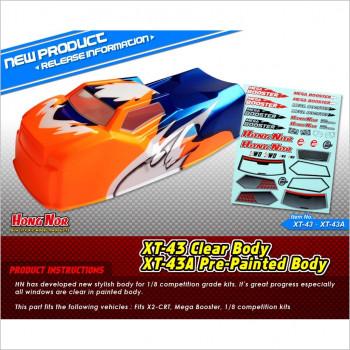 HongNor Truggy Pre-Painted Body Shell Cover #XT-43A