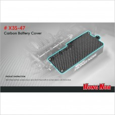 HongNor Carbon Battery Cover for Nitro #X3S-47 [X3 Series]