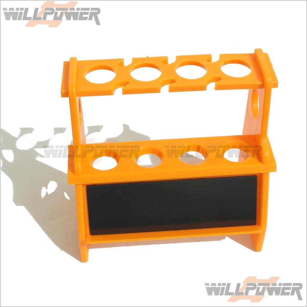 Shock-Absorber-Damper-Rebuild-Stand-Holder-RC-WillPower-w-Magnetic-Strip