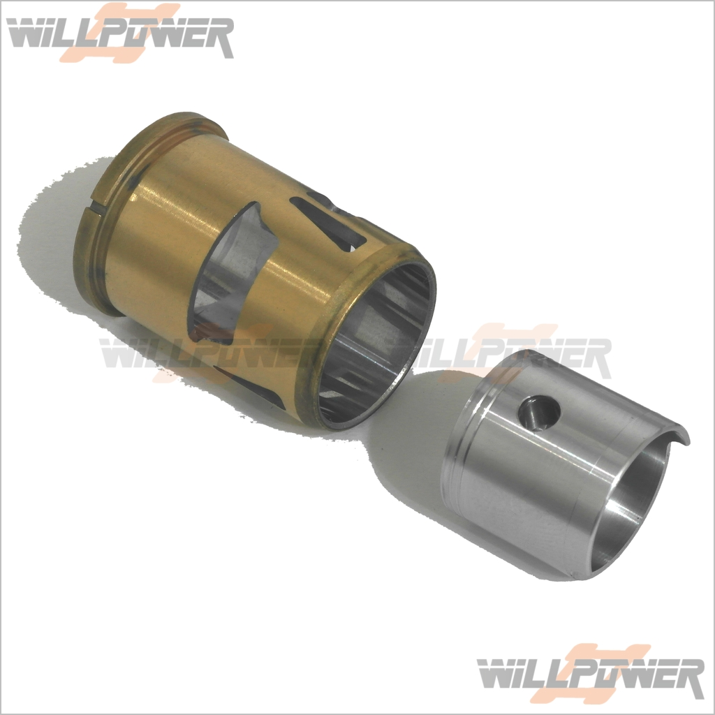 Hobao 28 6P Engine Cylinder & Piston Assy  28006  RC-WillPower  Nitro Gas Motor