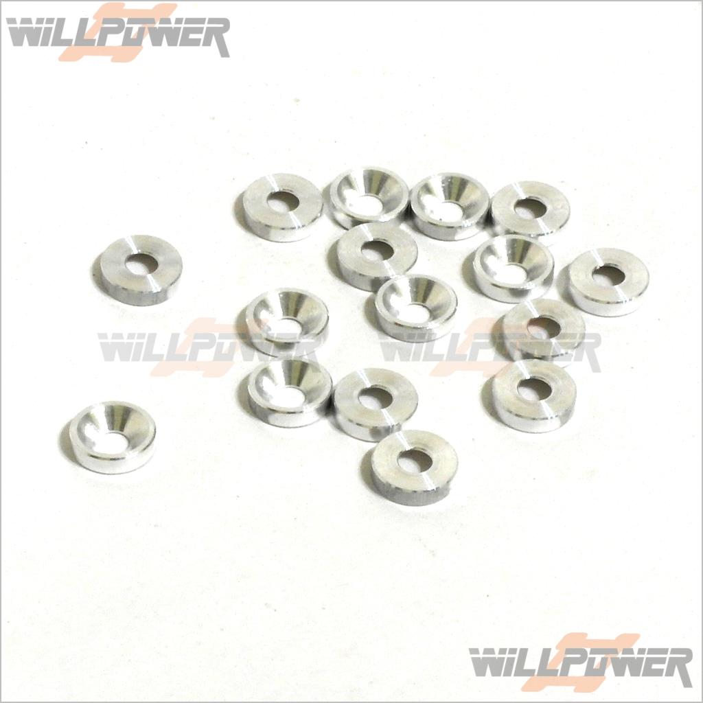 MINI ST Parts SINK ALUM WASHER 3mm #224210  OFNA Hobao Hyper