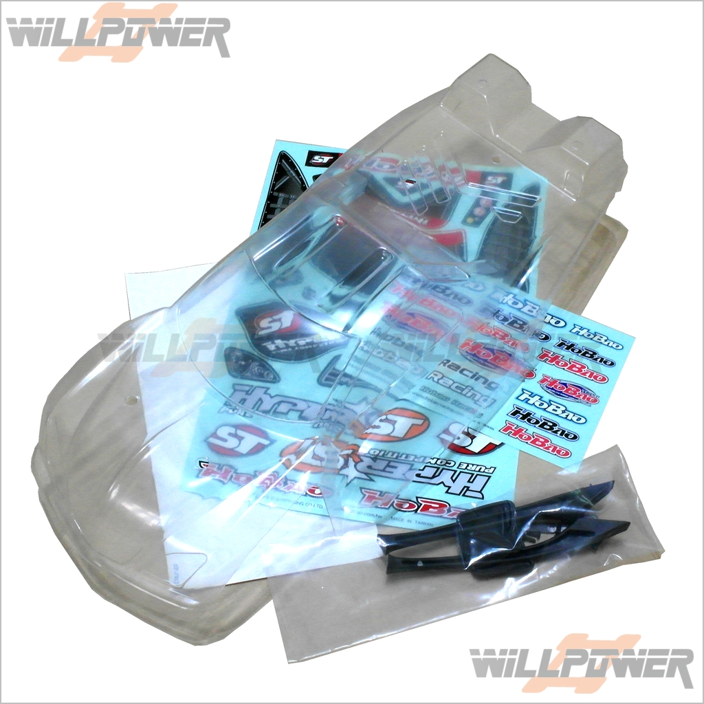 Clear Body Shell Cover  86227  RC-WillPower  HOBAO HyperST