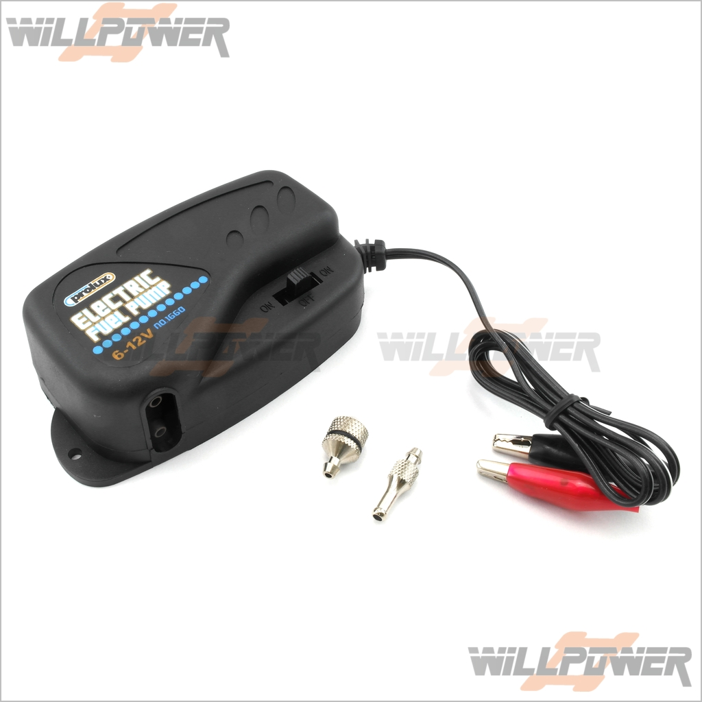 Prolux-6-12V-Electric-Fuel-Pump-RC-WillPower-Nitro-Gas-Engine-Buggy-Truggy-Car