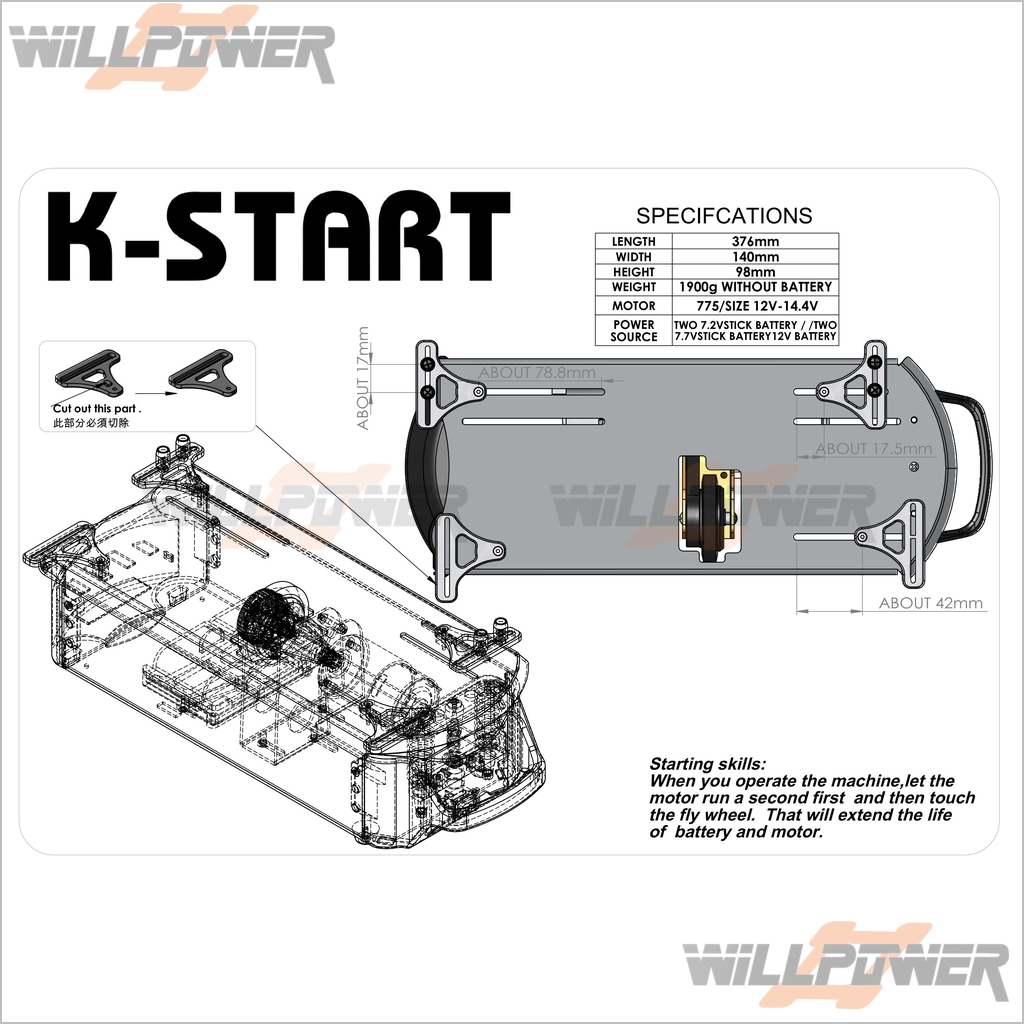 T-Start-Nitro-Starter-Box-RC-WillPower-TRAXXAS-
