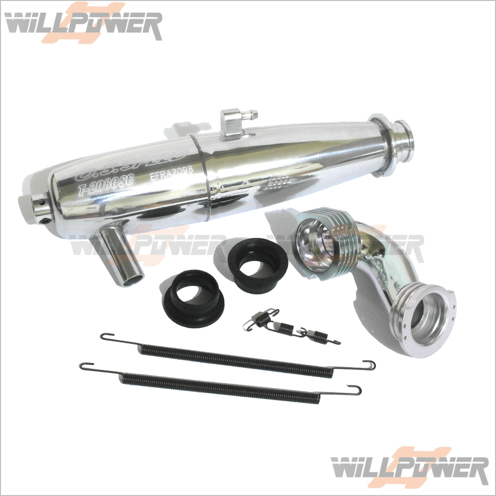 O.S T-2080SC Exhaust Pipe  72106850 (RC-WillPower) OS 21 V-Spec