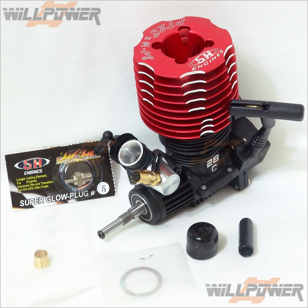 SH 28 Pull Start Nitro Engine  PT28XM1A-P8  RC-WillPower   motore SG Rear