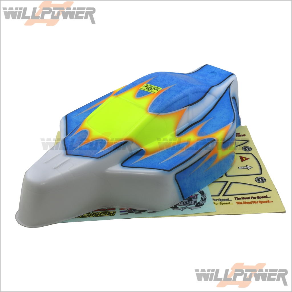 Painted Printed Body Shell Cover  J-48B  RC-WillPower  HongNor 9.5 Ravager