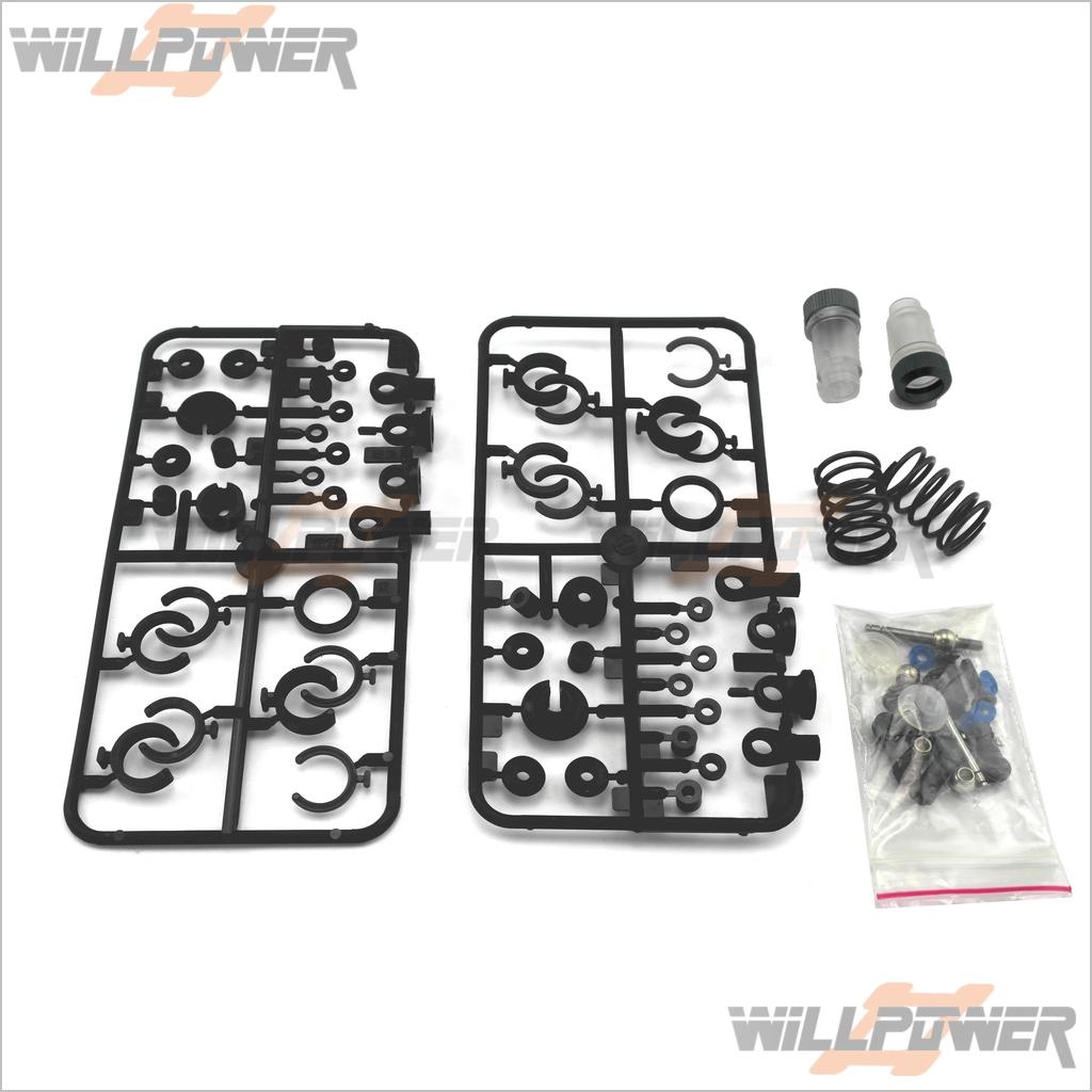 LD3 PARTS PLASTIC Shock Set * 2 set #L-47 (RC-WillPower) JAMMIN Hong Nor  OFNA