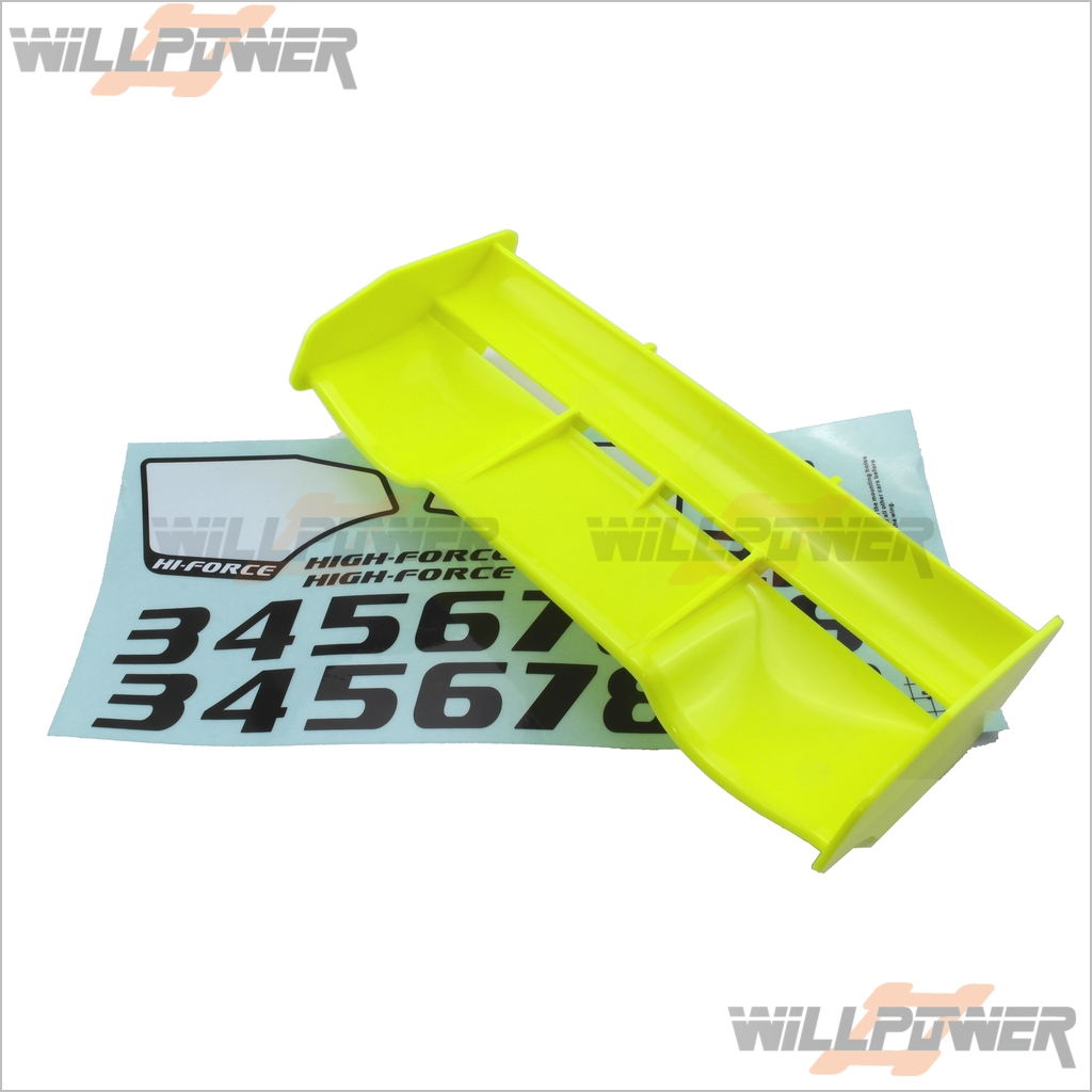 Details about NEXX 8 Parts 1/8 Rear Wing (Yellow) #380 (RC-WillPower)  JAMMIN Hong Nor NEXX8