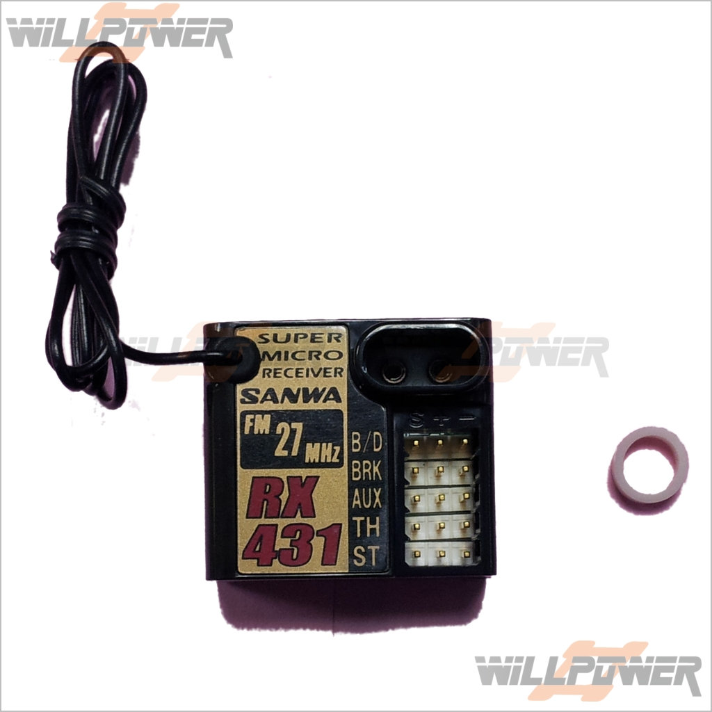 SANWA Micro FM 27 MHz Receiver  RX-431  RC-WillPower  Airtronics 4ch M11 MX-3S