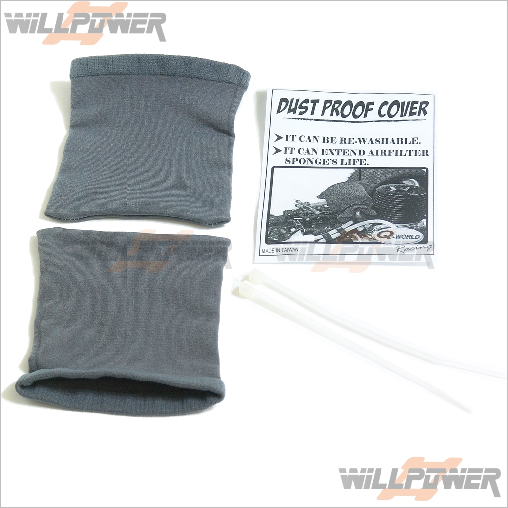 Dust Air Cleaner Cover : Dust proof cover washable for air filter rc willpower