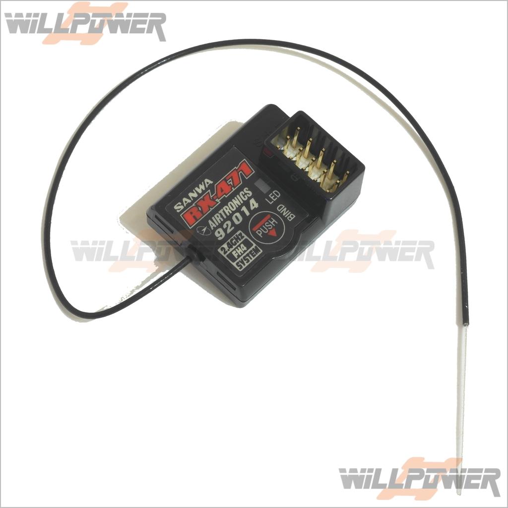 SANWA RX-471 4ch FHSS - 4 receptor (radio Control-WillPower) Airtronics 92014 2.4G RX471