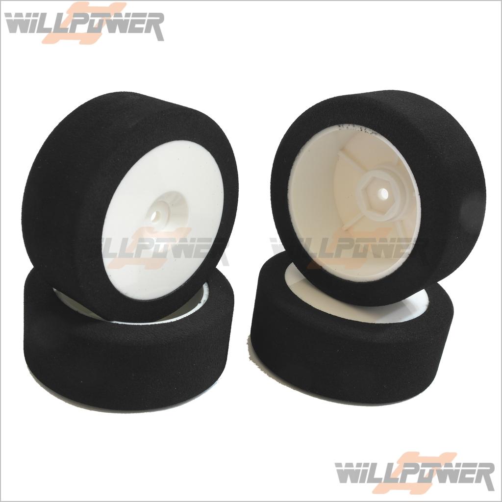 1 10 Sponge Tires Set (RC-WillPower) 1 10 Dish Wheel Glued Drifter Sedan On-Road