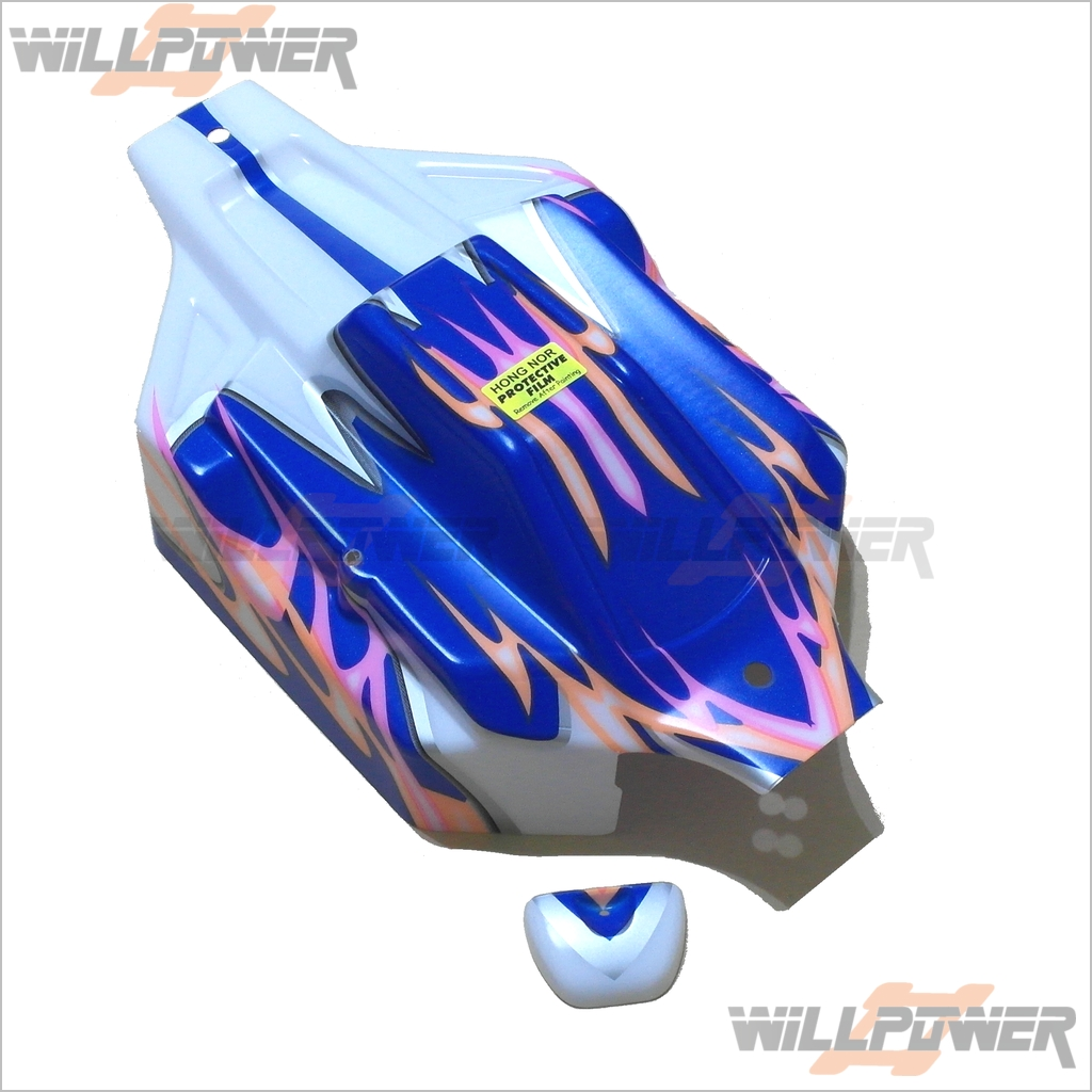 X3S Electric Clear Body//Shell #X3S-17A RC-WillPower Hongnor Jammin 1:8 Buggy