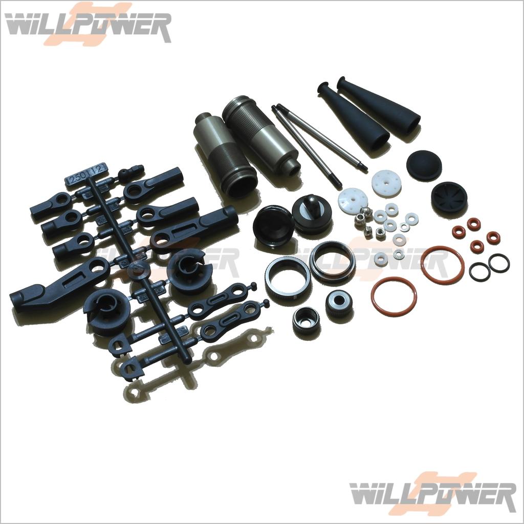 Sworkz S350 BE1 16 Mm Bbs Pro amortiguador trasero conjunto  sw -210057 (rc-willpower) 1 8 Amortiguador