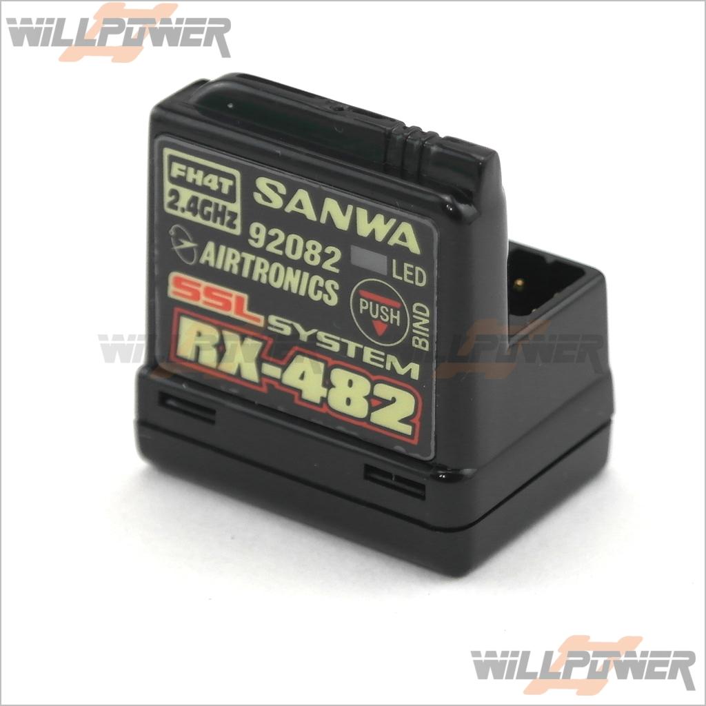 RX-482 4ch FHSS-4 Receiver  RX-482 (RC-WillPower) SANWA