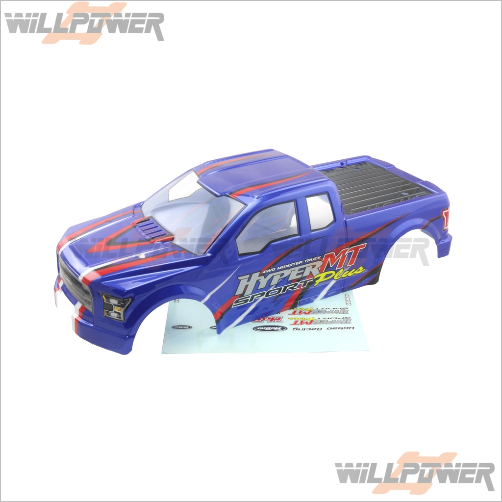 Painted Printed Body Shell Cover  94075BU  RC-WillPower  HOBAO Hyper MT