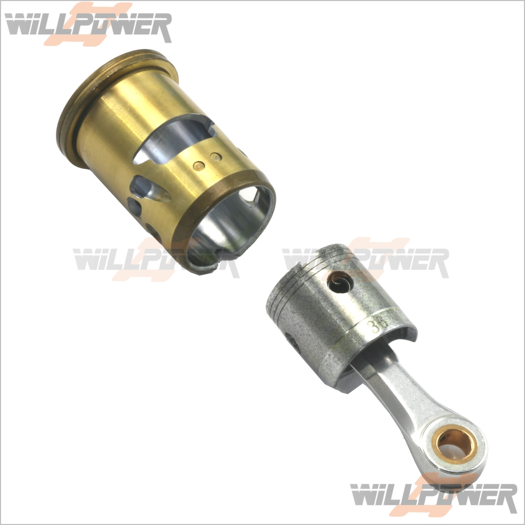 Alpha Z852 Piston Cylinder Con Rod (RC-Willenergia) 21  Engine Rebuild  consegna rapida