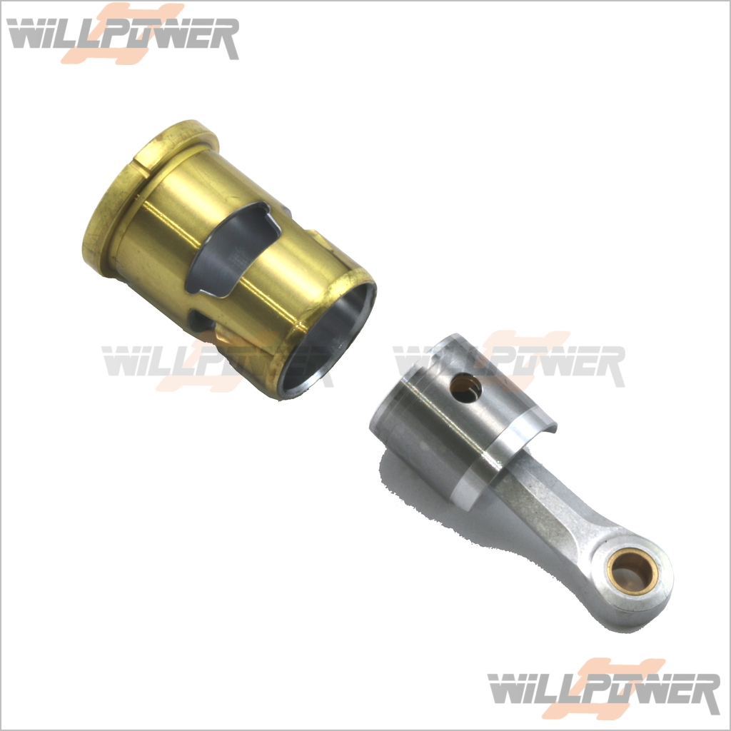 B2102-Piston-Sleeve-Connecting-Con-Rod-RC-WillPower-O-S-OS-Engine-Rebuild