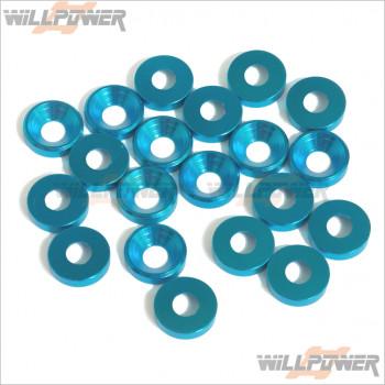 Q-World Aluminum 4mm Countersink Washer (20 pcs) #QW-312