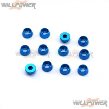 Q-World 4MM圓型沉頭墊片(12個裝)(藍.紫色)   #QW-313-4