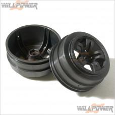 HOBAO Gray 10 SC Wheel, 2 pcs #11034 [Hyper 10SC]