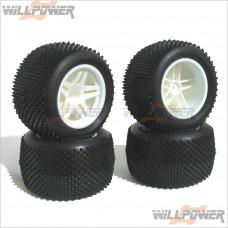 HOBAO Truck Complete Tires Tyres Set #11105 [TT10]