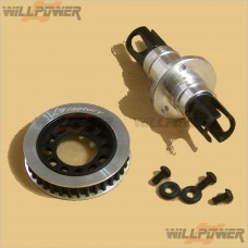 TeamMagic Lightweight Front Oneway/Solid Axle Set (35T Pulley) #K2135