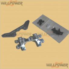 TeamMagic Rear 4mm Carbon shock tower w/aluminum stiffener #K14109